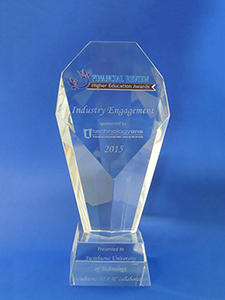 Australian Financial Review Higher Education Awards trophy